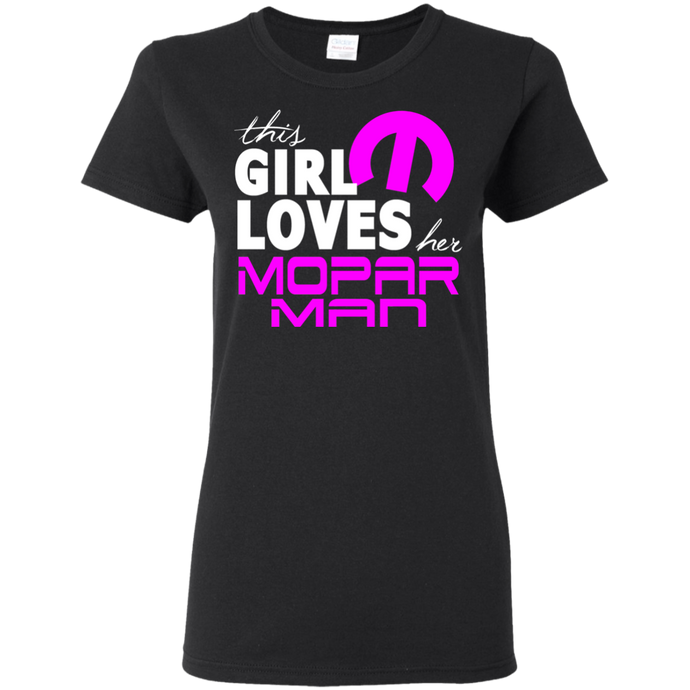 This Lady Loves Her Mopar Man T-Shirt, T-Shirts - MotorClub Clothes