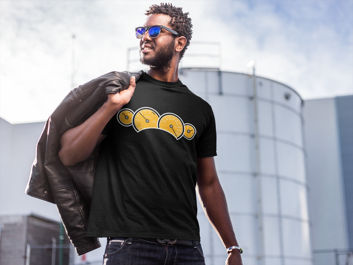 Yellow GTO Gauges T-Shirt, T-Shirts - MotorClub Clothes