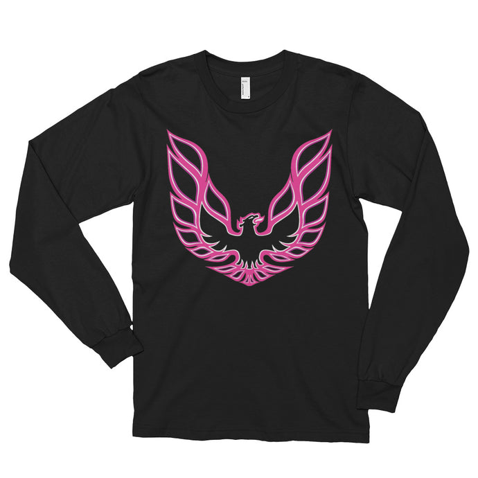 Long sleeve Pink Firebird t-shirt (unisex),  - MotorClub Clothes