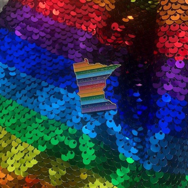 Pin on rainbow sequins