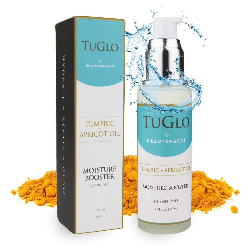 BeauteHacks TuGlo Moisture Booster with Turmeric & Apricot Oil was designed for those in need of a facial moisturizer geared to work for all skin types. We have formulated a key product that will focus on repairing, hydrating and revitalizing your skin.