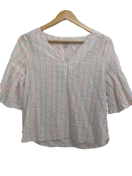 [S] A New Day Metallic Striped Top