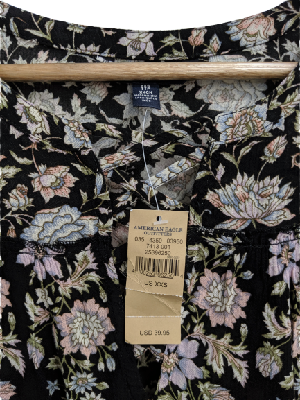 [XXS] NWT American Eagle Lattice Front Blouse