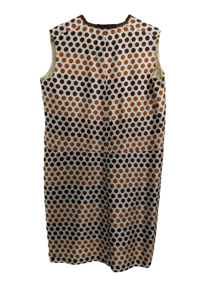 [M] 1960s Polka Dot Shift Dress with Belt