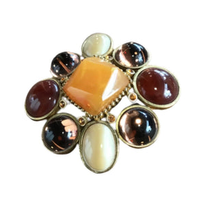 Joan Rivers Multi Colored Brooch/Pendant