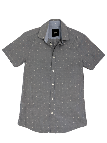 [XS] ASOS Polka Dot Button-Up Shirt