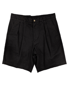 [34] Puritan Black Pleated Shorts