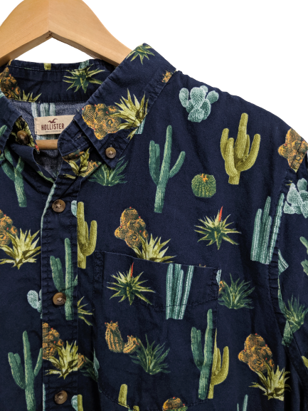[XL] Hollister Cactus Print Button-Down