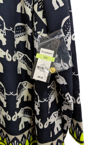 [2X] NWT Crown & Ivy Elephant Print Dress