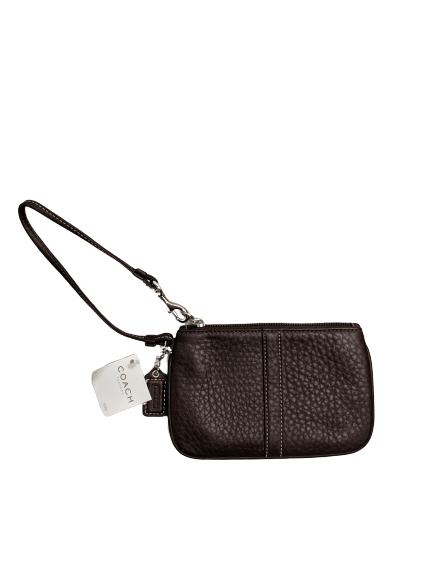 NWT Coach Brown Leather Wristlet