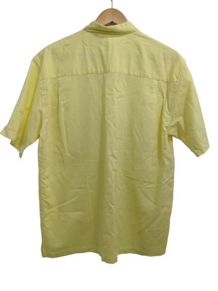 [M] Cubavera Yellow Button-Up Shirt