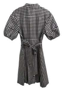 [M] Kate Spade Gingham Puff Sleeve Dress
