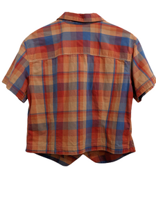 [L] Vintage LizWear Plaid Button-Up Shirt