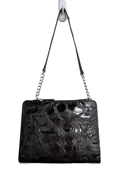 Miche Structured Black Patent Leather Purse