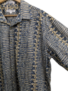 [L] Pierre Cardin Geometric Print Button-Down