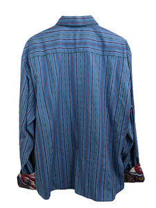 [2XL] Robert Graham Striped Button-Up