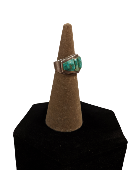Vintage Raw Turquoise Sterling Silver Ring