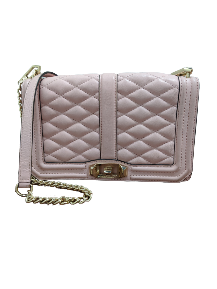 Rebecca Minkoff Pink Quilted Leather Crossbody