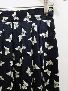 Vintage Butterfly Pleated Skirt