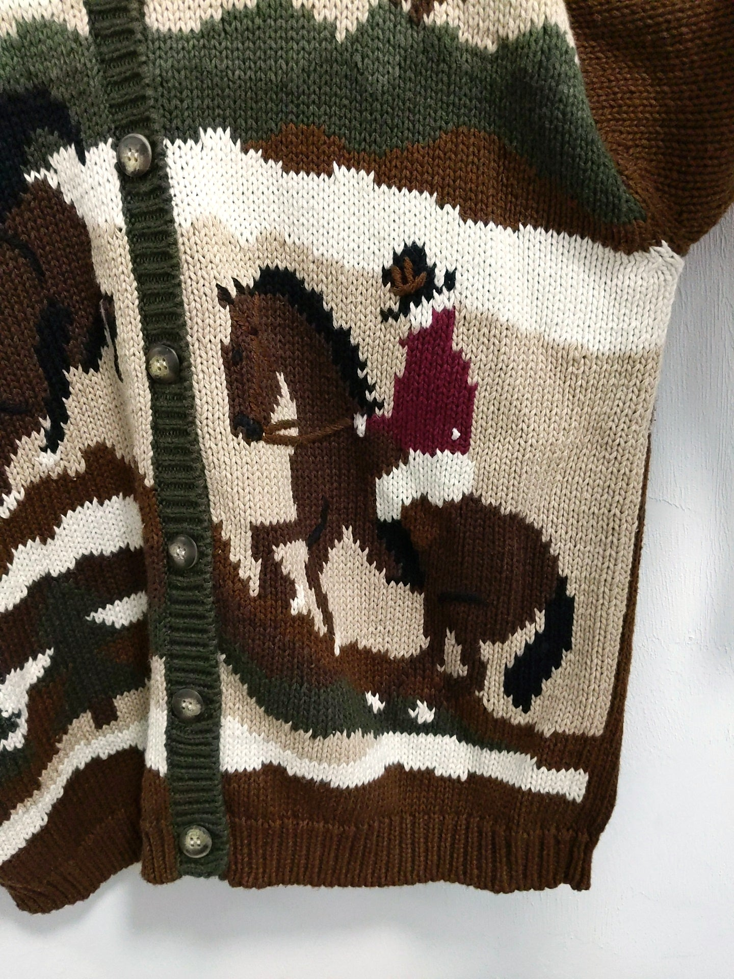 Vintage Horse and Cowboy Sweater