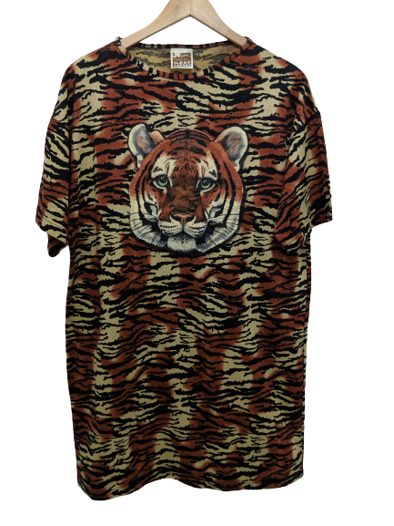 [OSFM] Tiger Print Sleep Shirt