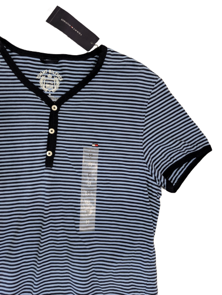 [M] NWT Tommy Hilfiger Striped Henley Tee