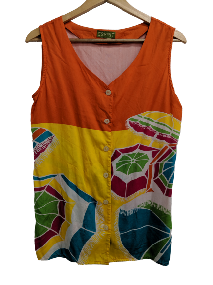 [M/L] Vintage Esprit Beach Umbrella Tank Top
