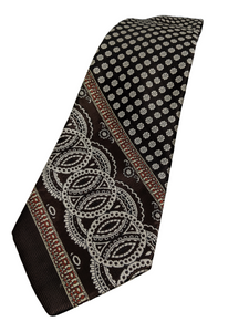 Vintage Wide Brown Abstract Tie