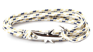 Cool Shark & Nautical Rope Wristband for Men  & Women - Various Colours