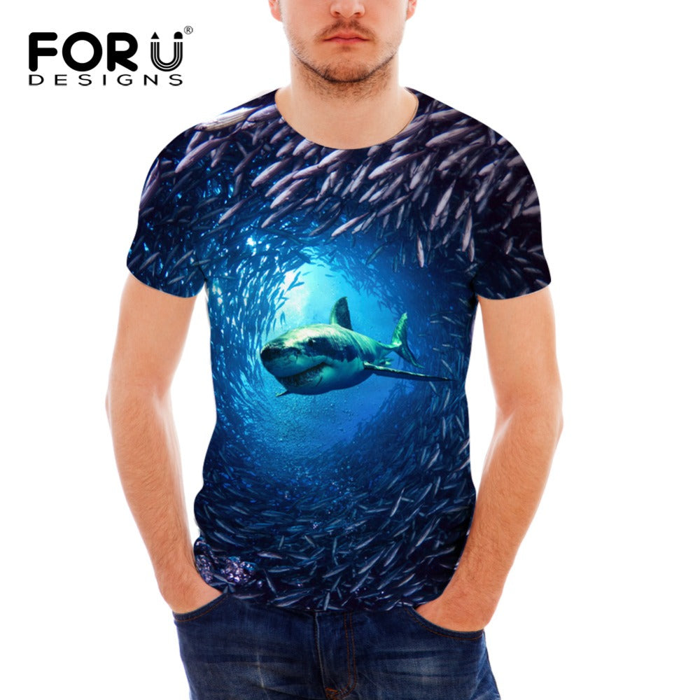 3D Great White Shark Shirt.  Smaller sizes so check sizing chart.