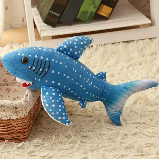 Adorable Blue  Shark Plush Stuffed Animal Toy 11.8""
