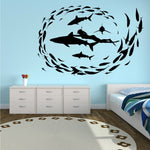 SHARK DIVING Vinyl Wall Decal - Sizes and colours available.
