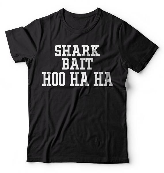 Shark Bait Tee- Several Colours - Check sizing chart - small sizes.
