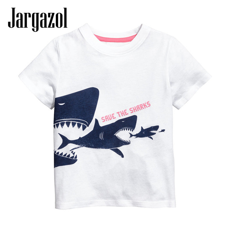 Save the Sharks kids tee - Check sizing chart - small sizes.