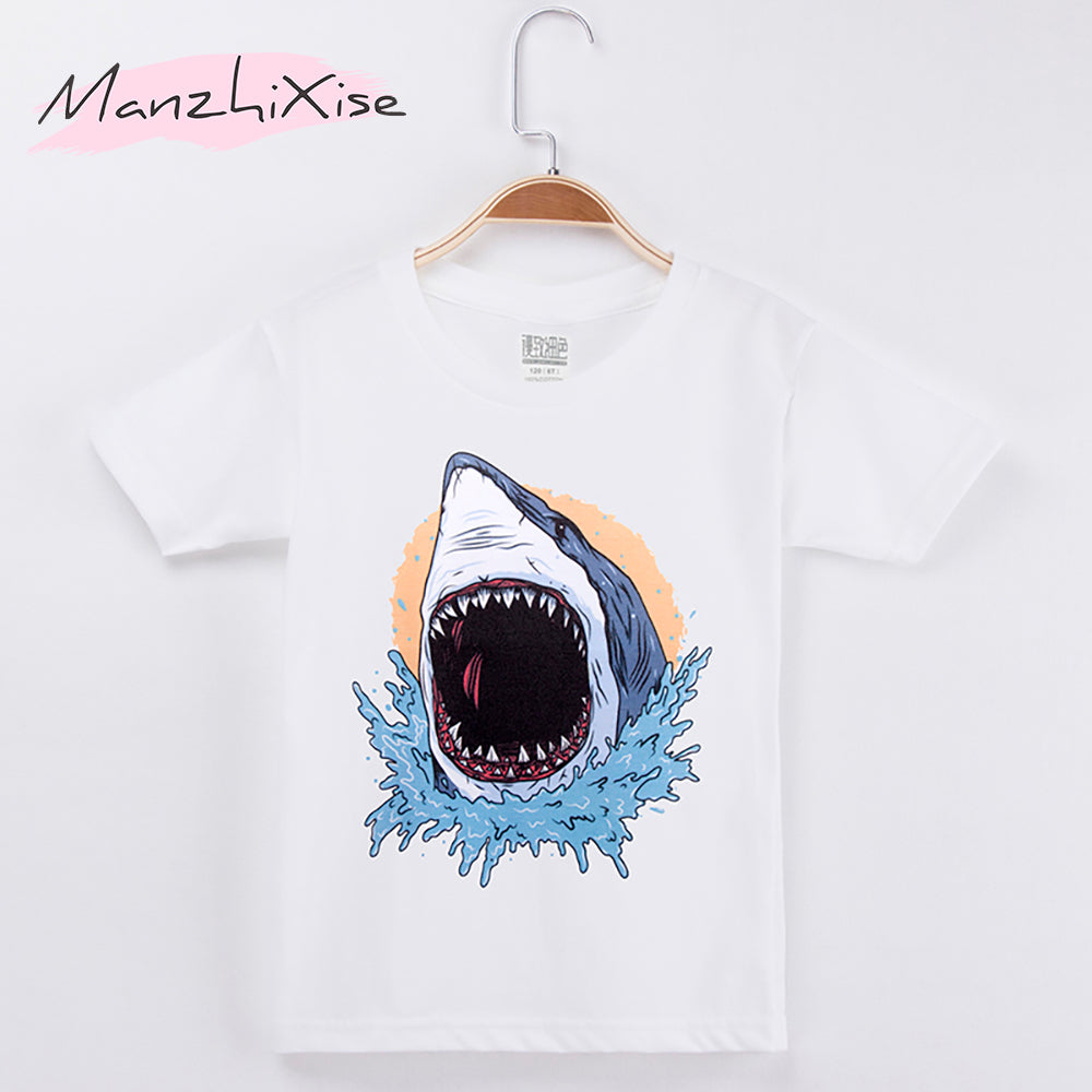 Kids MEGA Shark tee - Check Sizing Chart!