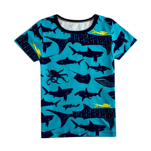 100% Cotton Kids Sea Creatures  Tee