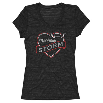 Lake Elsinore Storm Women's Double Hearts Tee