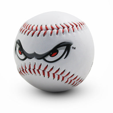 Lake Elsinore Storm White Logo Ball - Eye Logo