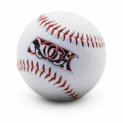 Lake Elsinore Storm White Logo Ball - Wordmark Logo