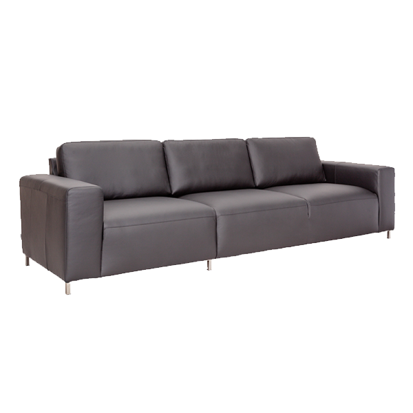 Imagination | 3er-Sofa | Leder | Schwarz
