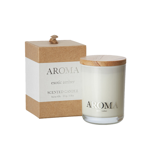 AROMA SCENT CANDLE | EXOTIC AMBER | Small