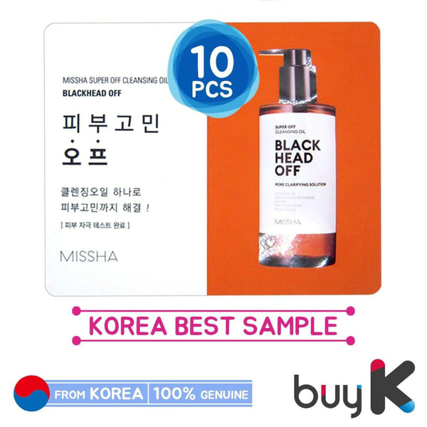 10pcs [MISSHA] Super Off Cleansing Oil 3ml [Blackhead Off] (Sample Sachet) - BuyK.KR