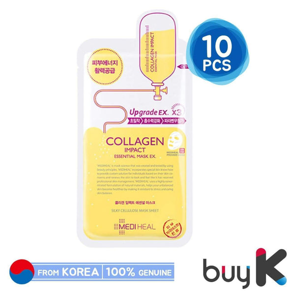 10pcs/1box [MEDIHEAL] Collagen Impact Essential Mask Upgrade EX