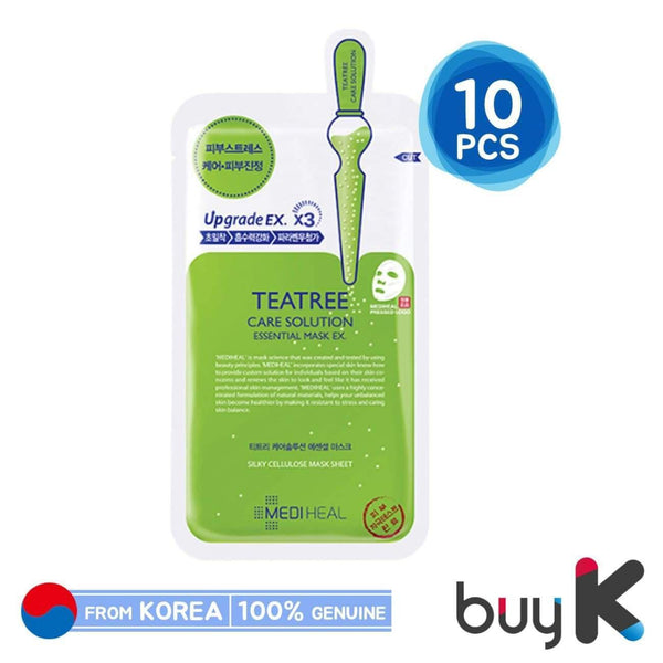10pcs/1box [MEDIHEAL] Tea Tree Care Solution Essential Mask EX - BuyK.KR
