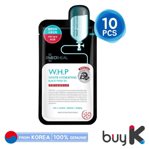 10pcs/1box [MEDIHEAL] W.H.P White Hydrating Charcoal Mineral Mask EX - BuyK.KR