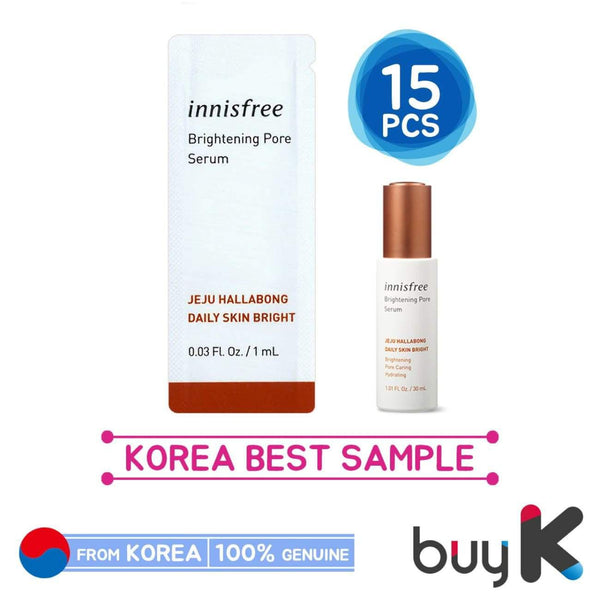 15pcs [INNISFREE] Brightening Pore Serum 1ml (Sample Sachet) - BuyK.KR