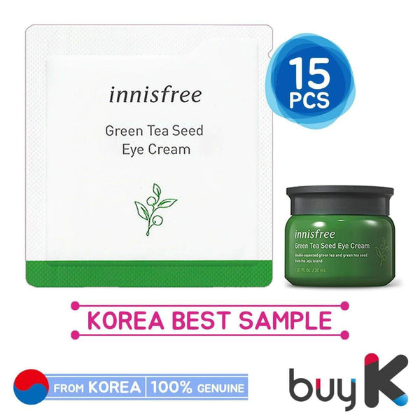 15pcs [INNISFREE] Green Tea Seed Eye Cream 1ml (Sample Sachet) - BuyK.KR
