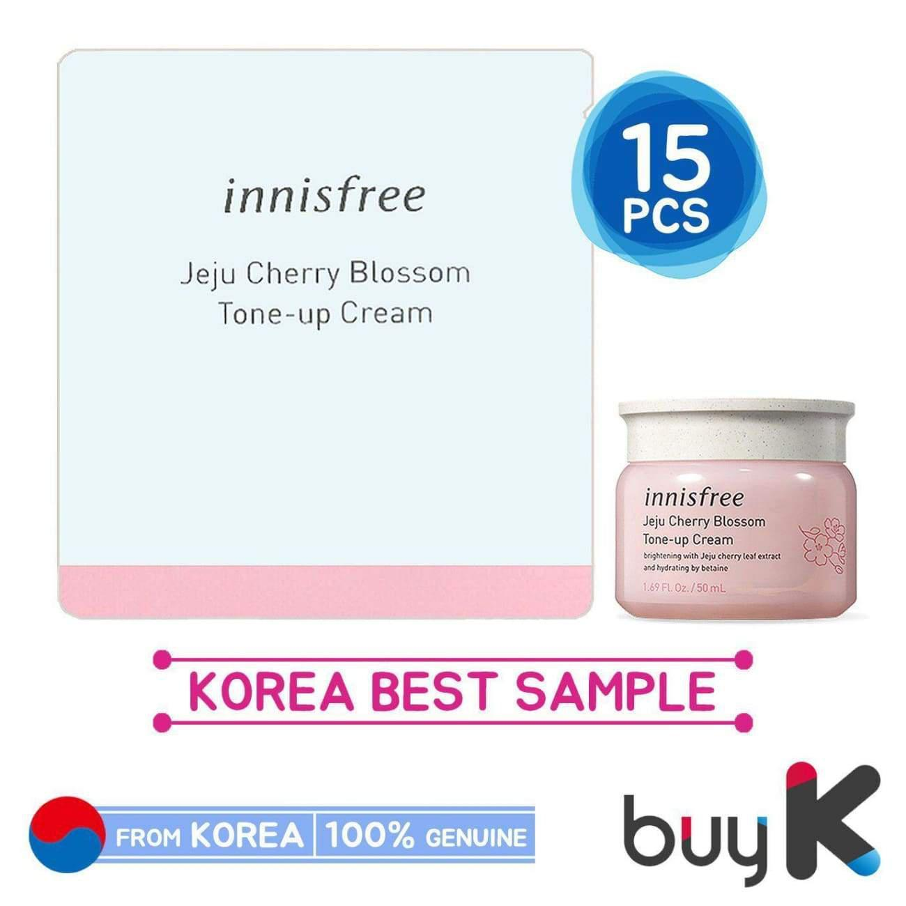 15pcs [INNISFREE] Jeju Cherry Blossom Tone Up Cream 1ml (Sample Sachet)