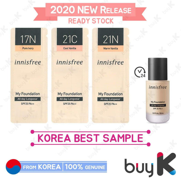 15pcs [INNISFREE] My Foundation [All day-Longwear] 1ml (17N, 21C, 21N) - BuyK.KR
