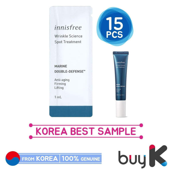 15pcs [INNISFREE] Wrinkle Science Spot Treatment 1ml (Sample Sachet)